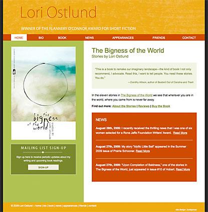 Lori Ostlund site design