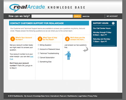 Real Arcade Knowledge Base