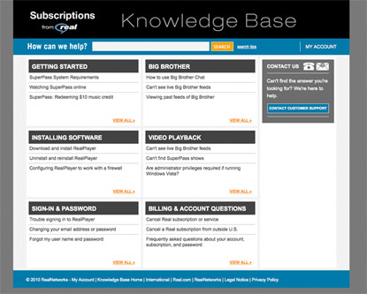 Real Subscriptions Knowledge Base